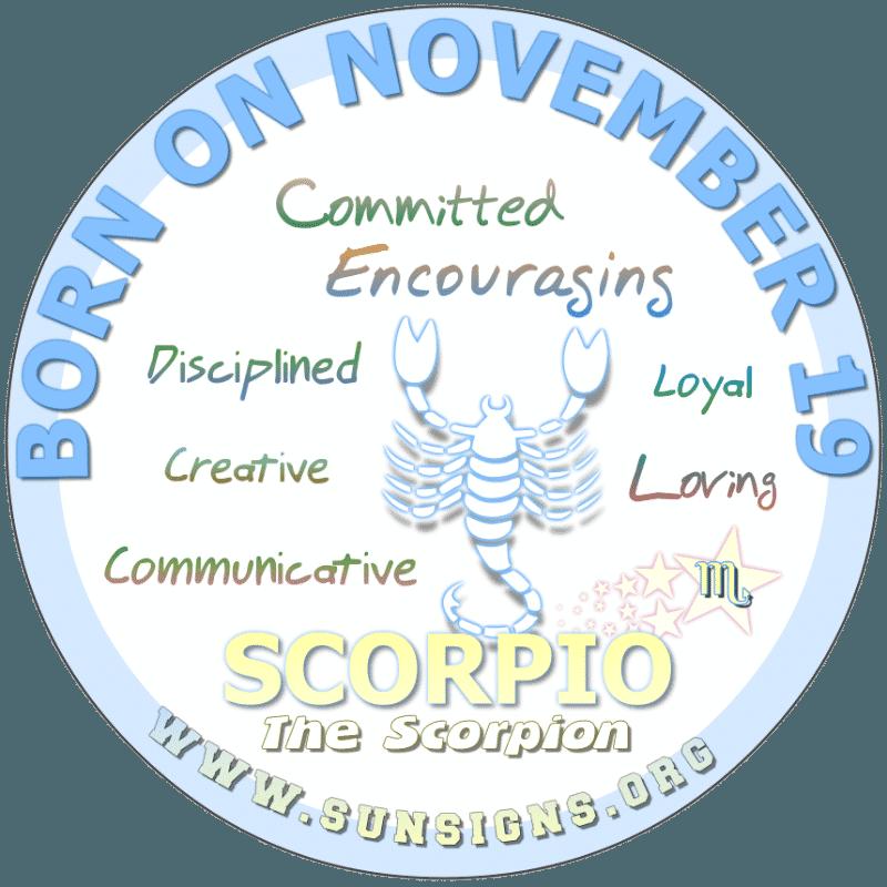 november 19 zodiac sign Scorpio