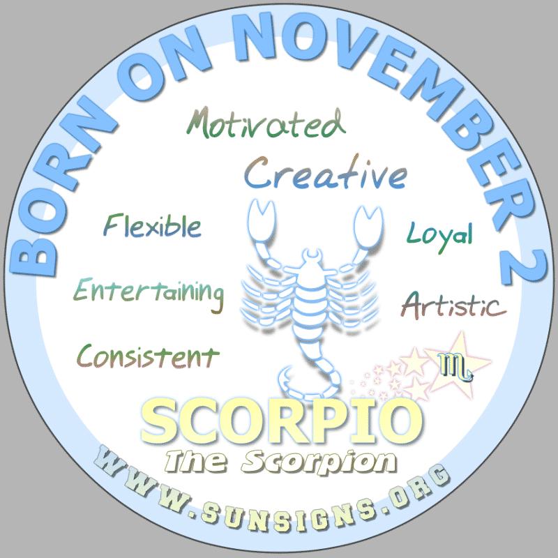 november 2 zodiac sign Scorpio