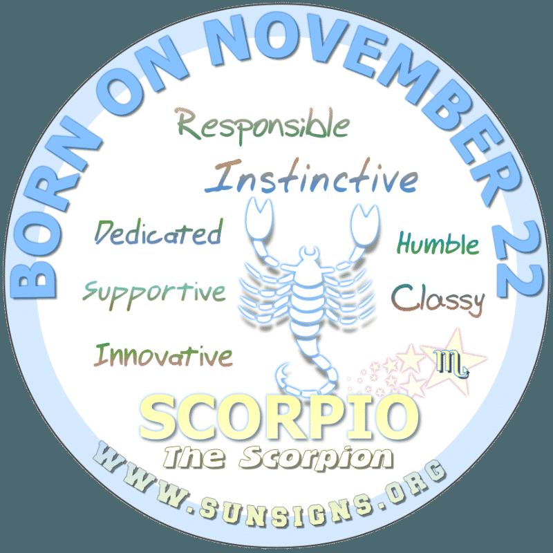 november 22 zodiac sign Scorpio