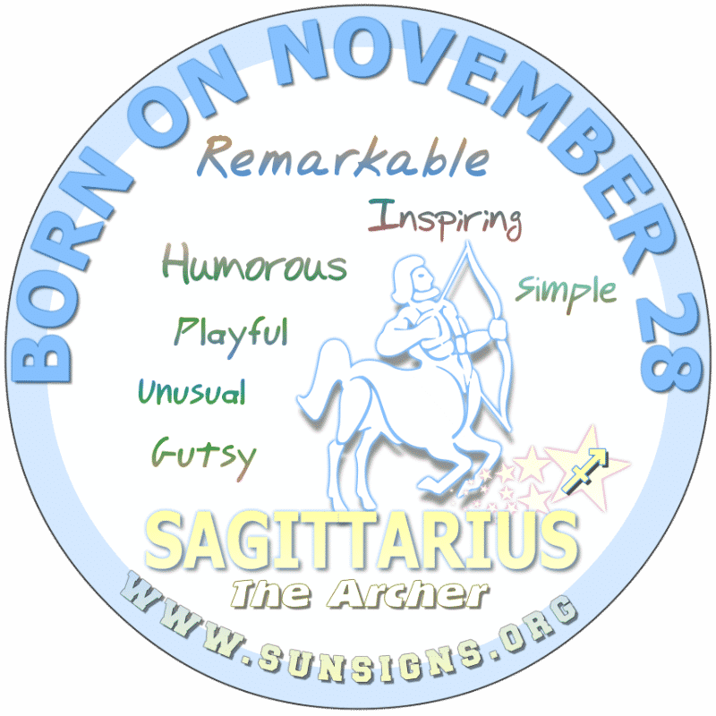 november 28 zodiac sign sagittarius