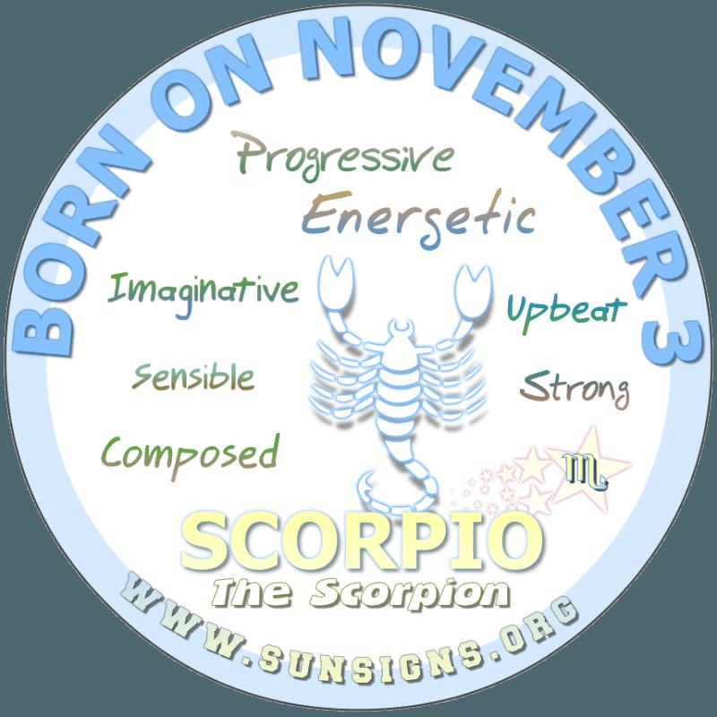 november 3 zodiac sign Scorpio
