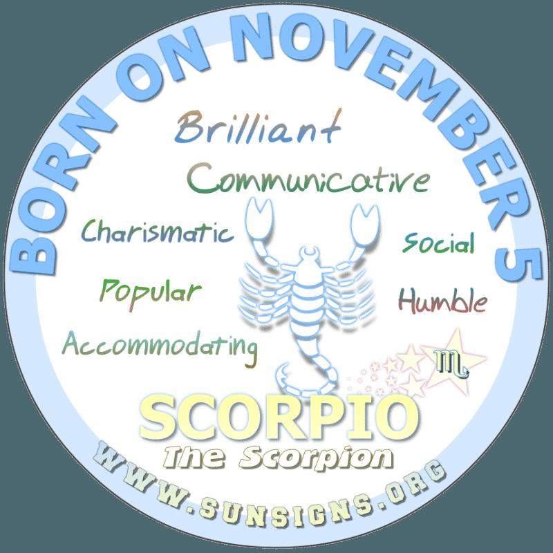 november 5 zodiac sign Scorpio