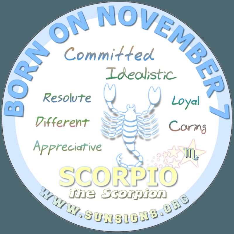 november 7 zodiac sign Scorpio