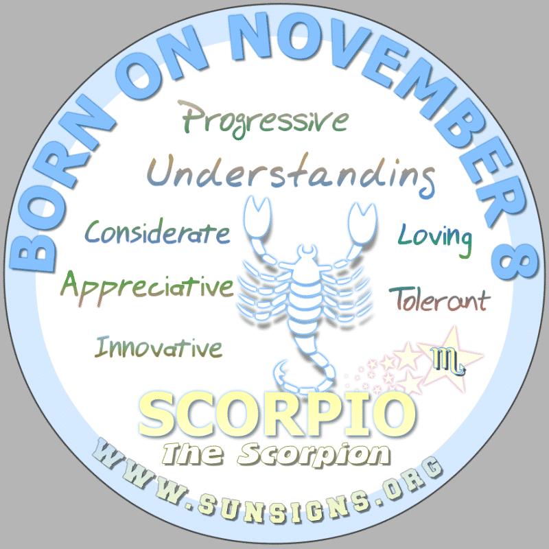 november 8 zodiac sign Scorpio