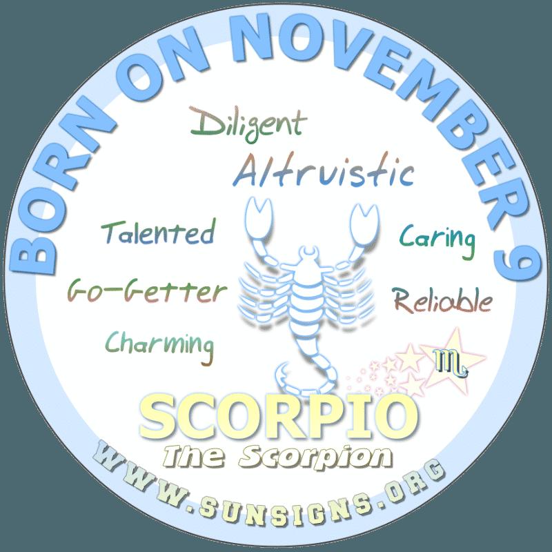 november 9 zodiac sign Scorpio
