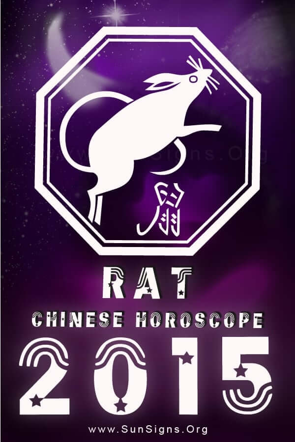 The Chinese zodiac rat sign people will have a great 2015.