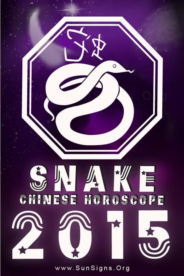 The 2015 Snake horoscope predicts that you will be able to overcome all the obstacles and become successful.