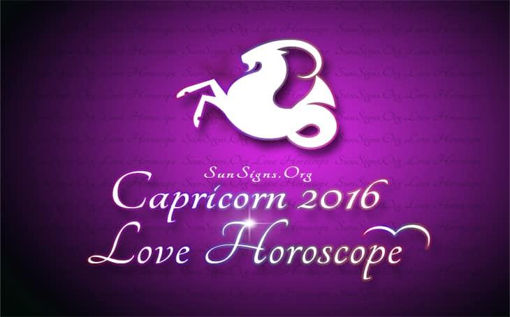 2016 capricorn love horoscope