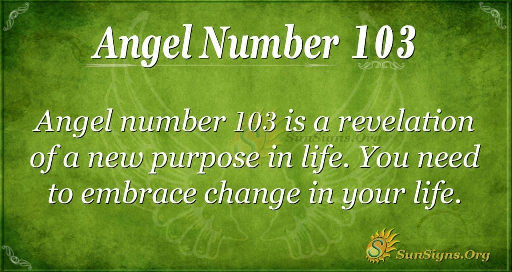 Angel Number 103