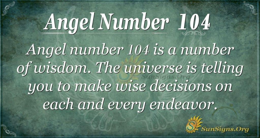 angel number 104