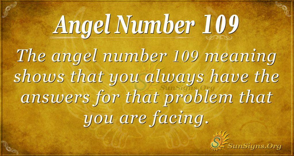 Angel Number 109