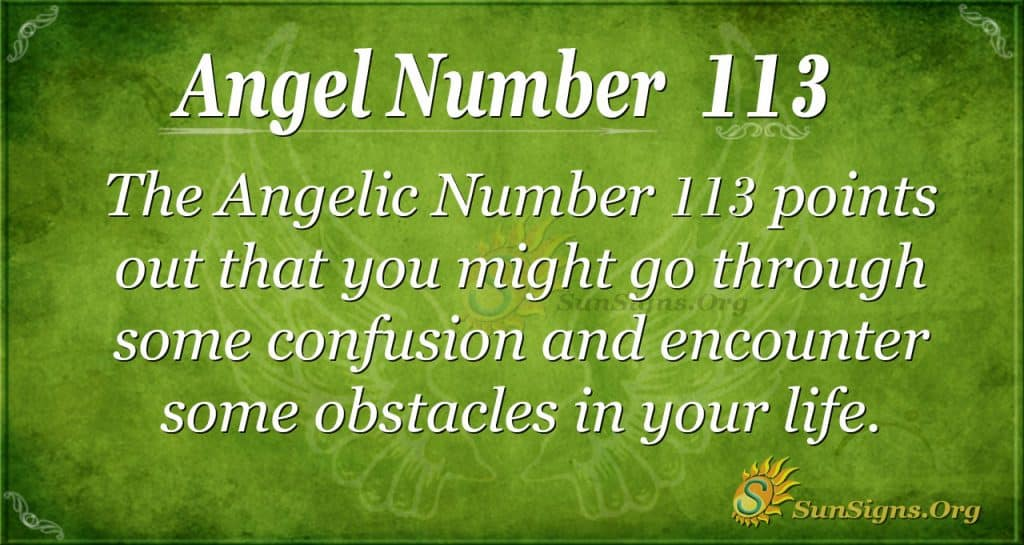 angel number 113