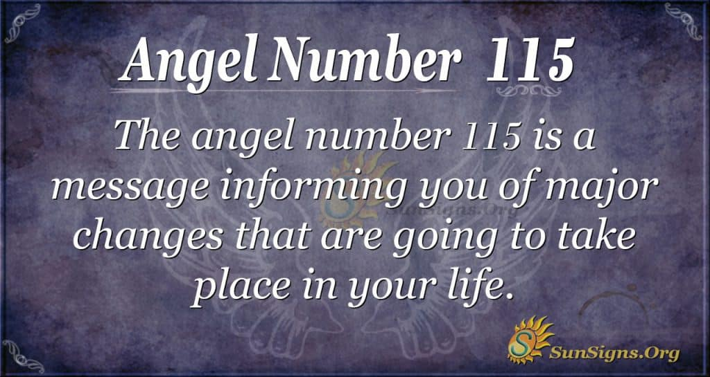 angel number 115