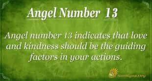angel number 13