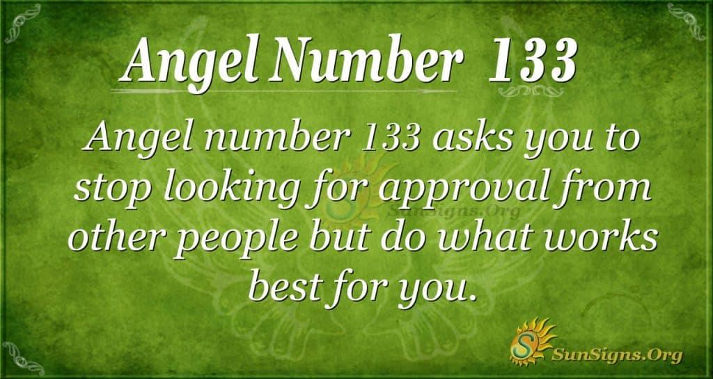 angel number 133