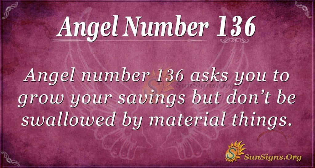 angel number 136