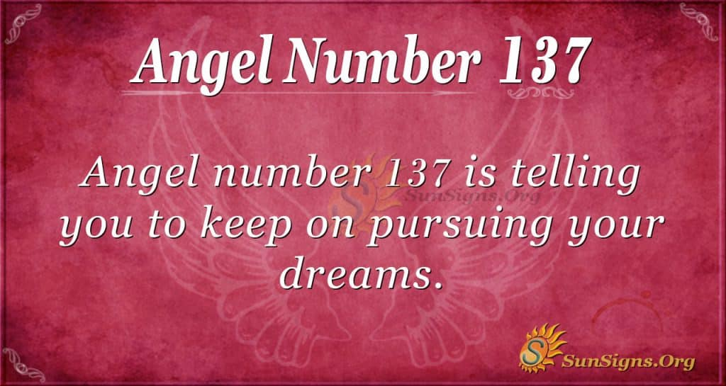 angel number 137