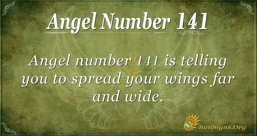 angel number 141