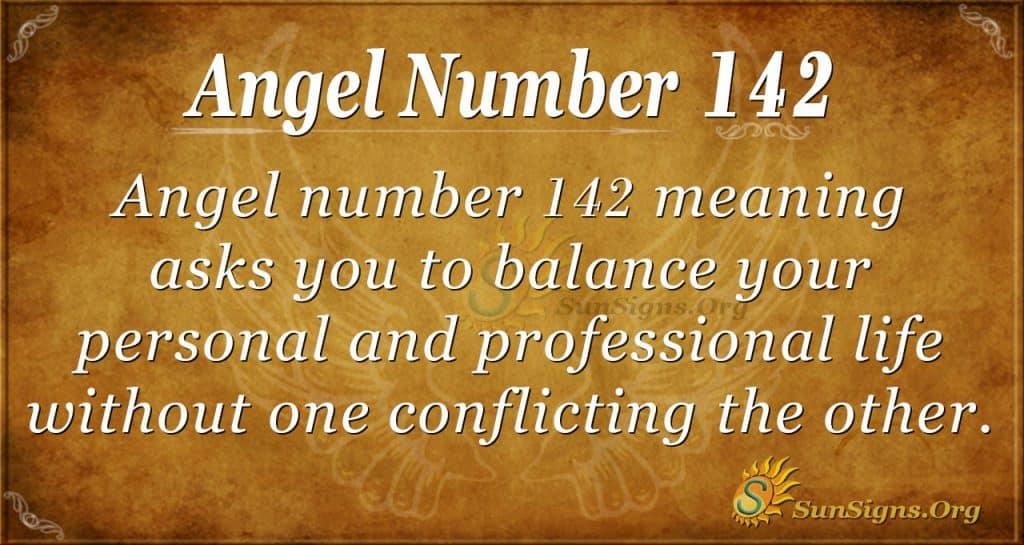 angel number 142