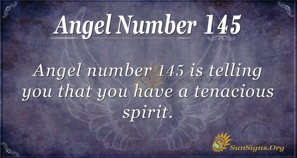 angel number 145