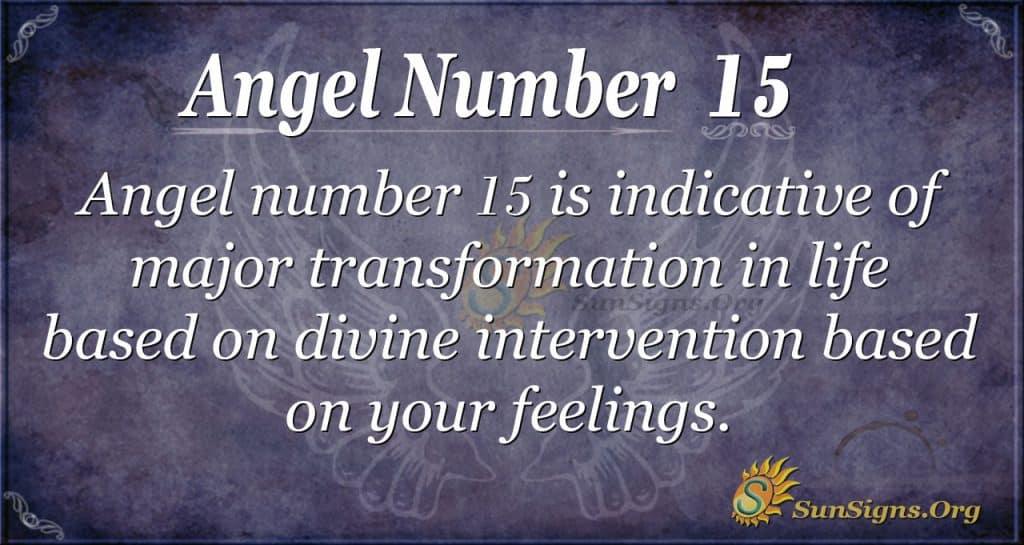 angel number 15