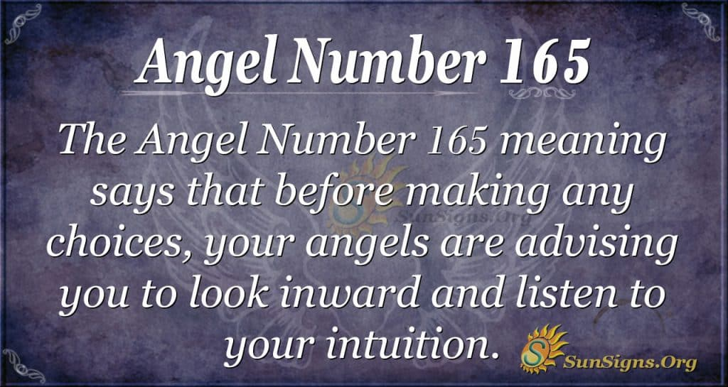 angel number 165