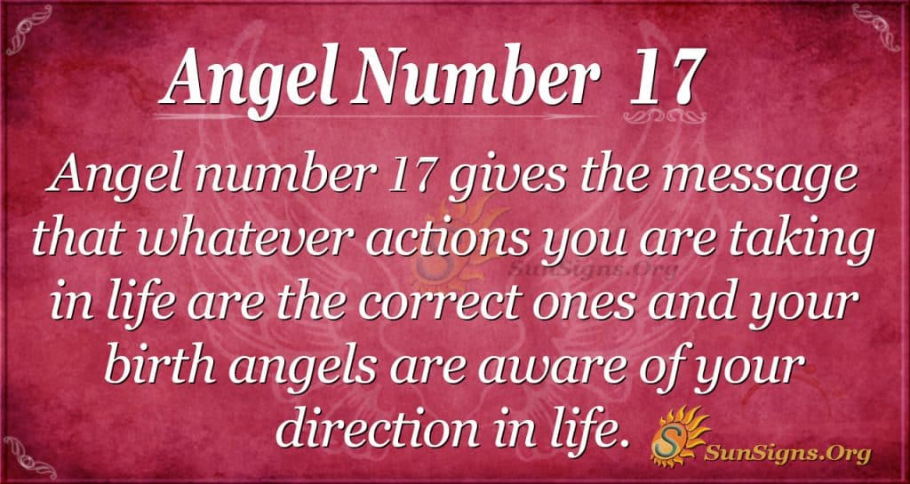 angel number 17