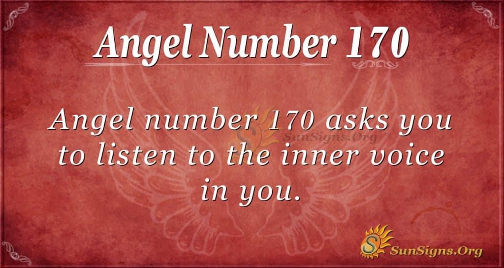 angel number 170