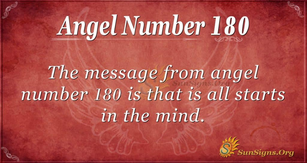 angel number 180