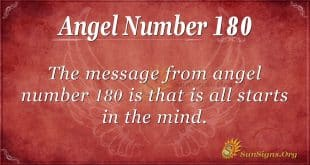 angel number 180