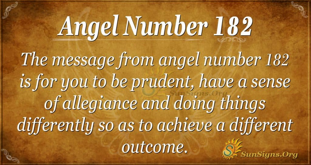 angel number 182