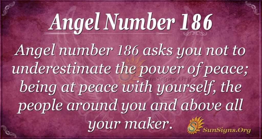angel number 186