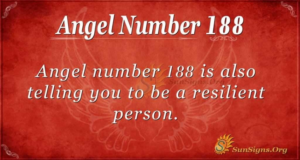 angel number 188