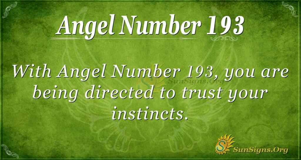 angel number 193