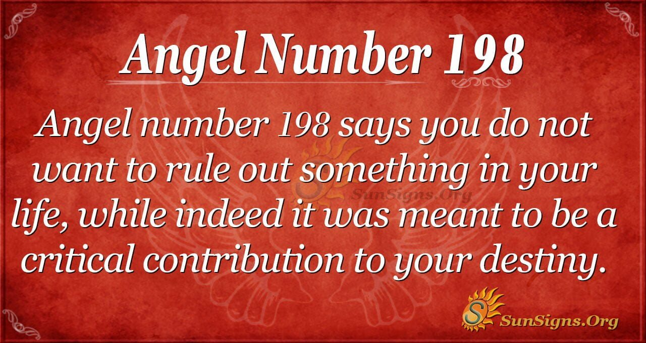 Angel Number 198 Meaning