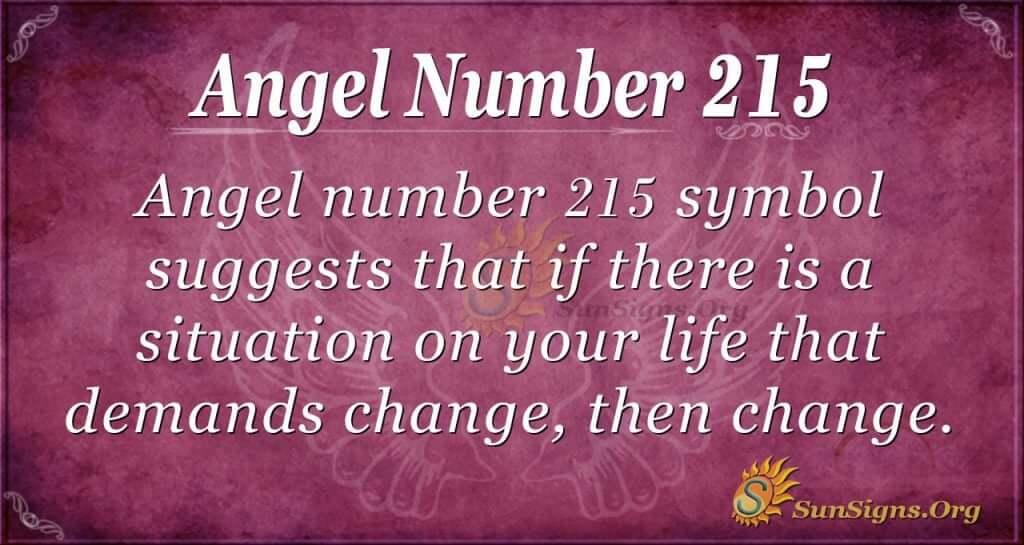 angel number 215