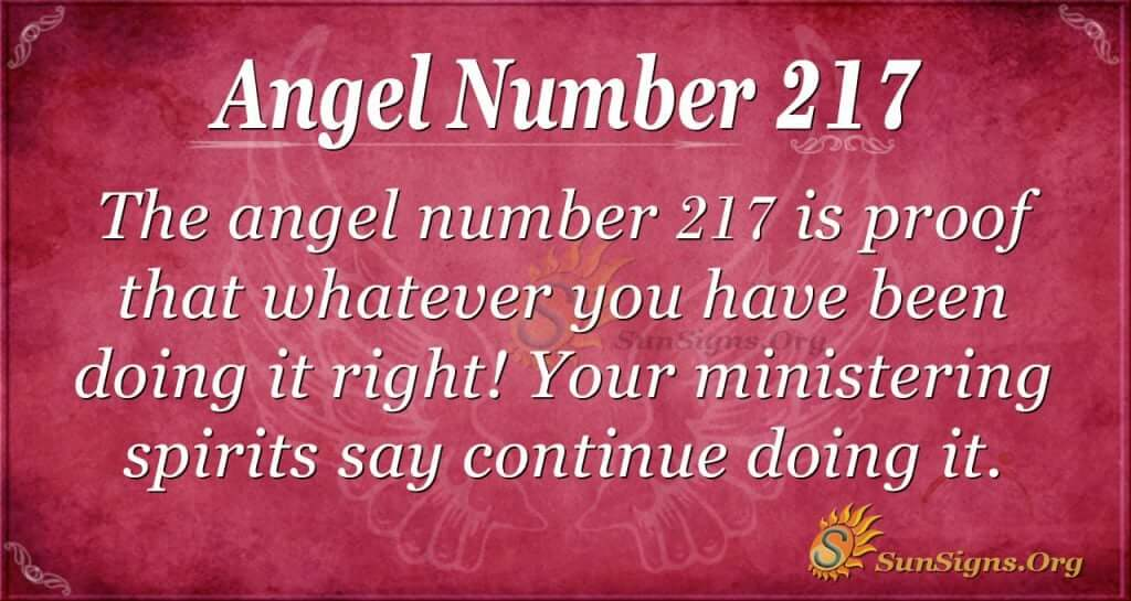 angel number 217