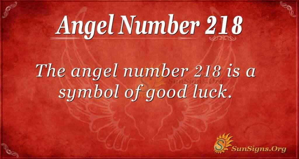 angel number 218
