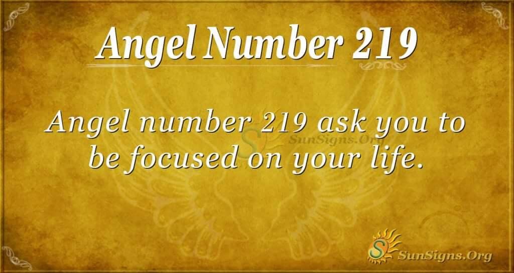 angel number 219