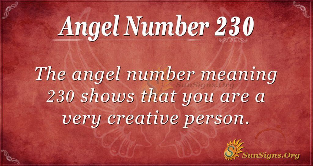 angel number 230