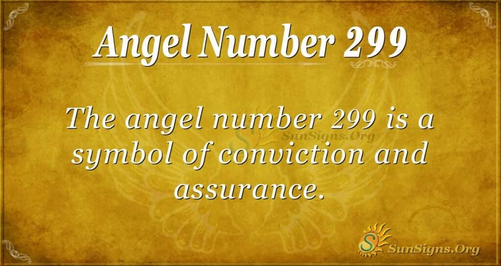 Angel Number 299