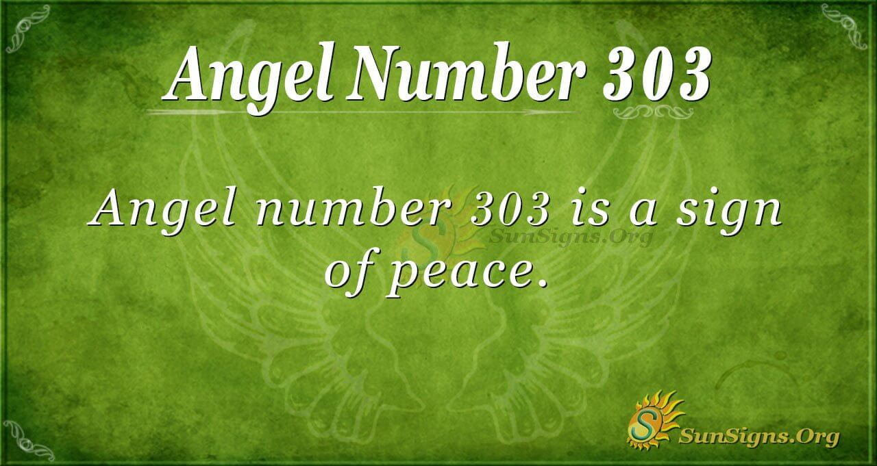 Angel Number 303 Meaning