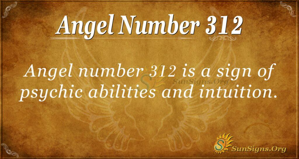 Angel Number 312