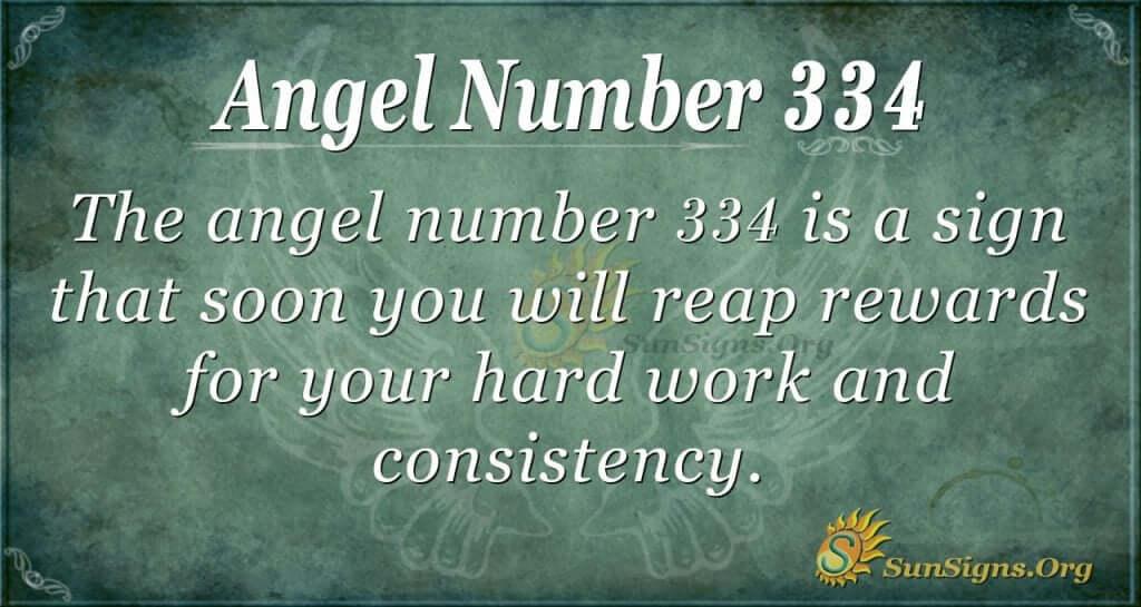 Angel Number 334