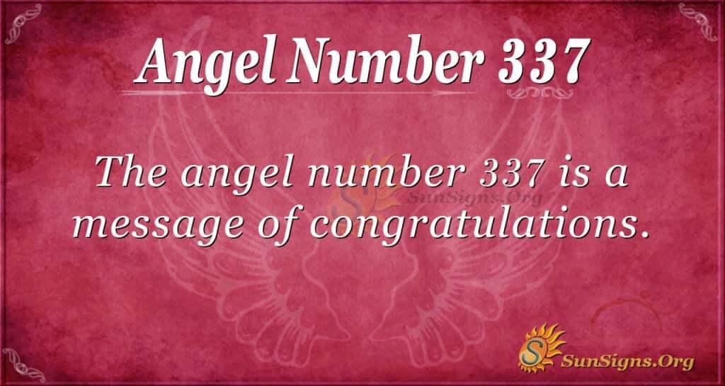 Angel Number 337