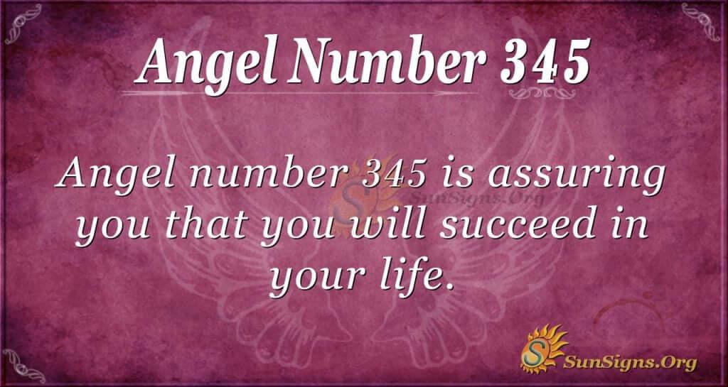 Angel Number 345