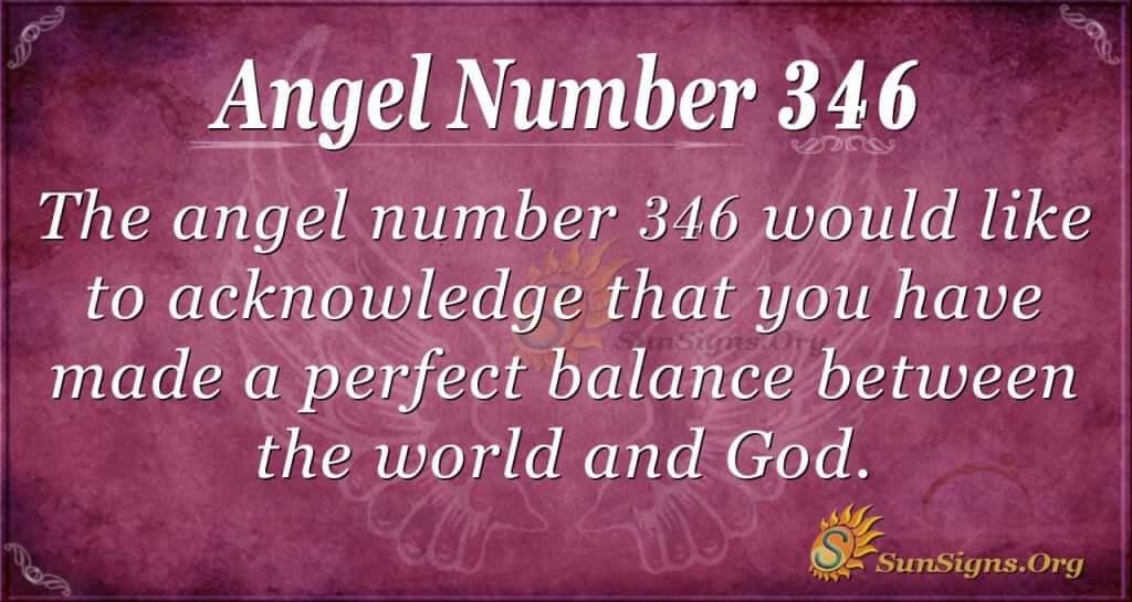 Angel Number 346