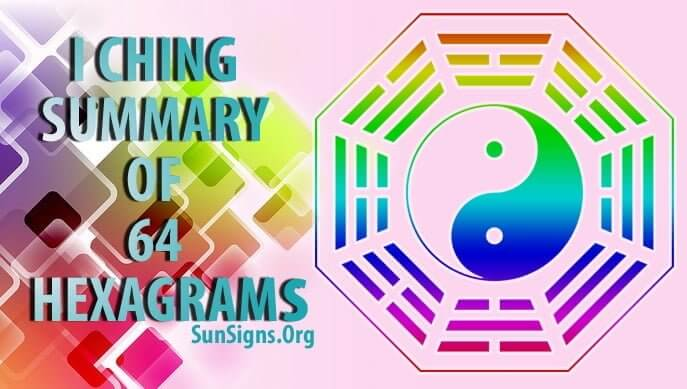 The 64 I Ching Hexagrams are cast to understand present situations.