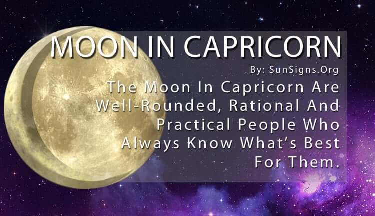 The Moon In Capricorn Are Well-Rounded, Rational And Practical People Who Always Know What's Best For Them