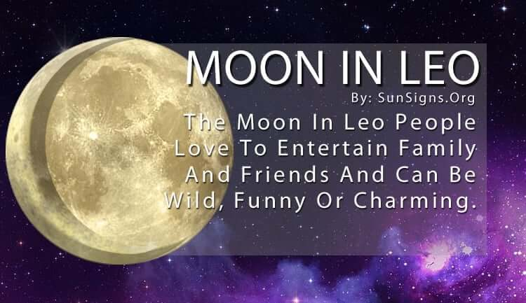 The Moon In Leo